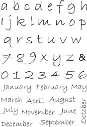 Sweet Dixie - MM Alphabet/Months Clear Stamps
