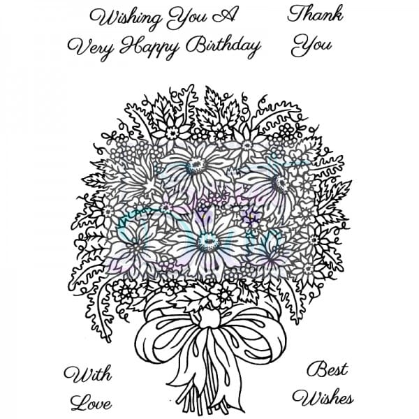 Sue Dix Designs - Floral Bouquet Clear Stamp size A6