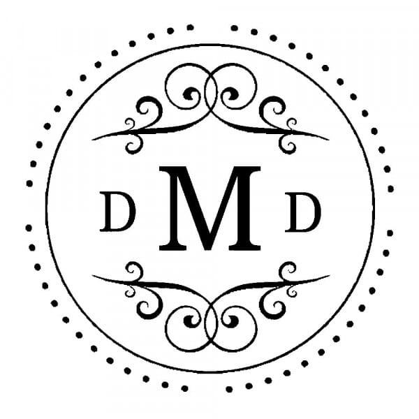 Monogram stamp round - No  17