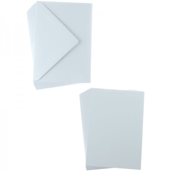Sweet Dixie White A6 Card and Envelope Packs (10)
