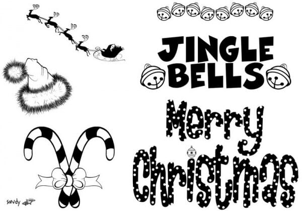 Art Stamps - Jingle Bells Clear Stamp