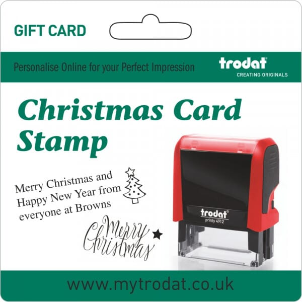 Trodat Customised Christmas Stamp Gift Card