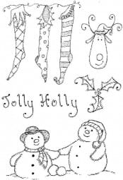 Lindsay Mason Designs - Clear Stamp - Jolly Holly