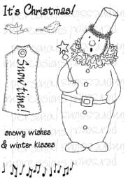 Lindsay Mason Designs - Snow Time Snowman A6 Clear Stamp