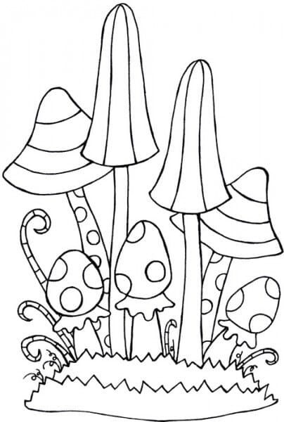 Lindsay Mason Designs - Zendoodles Fungi Clear Stamp