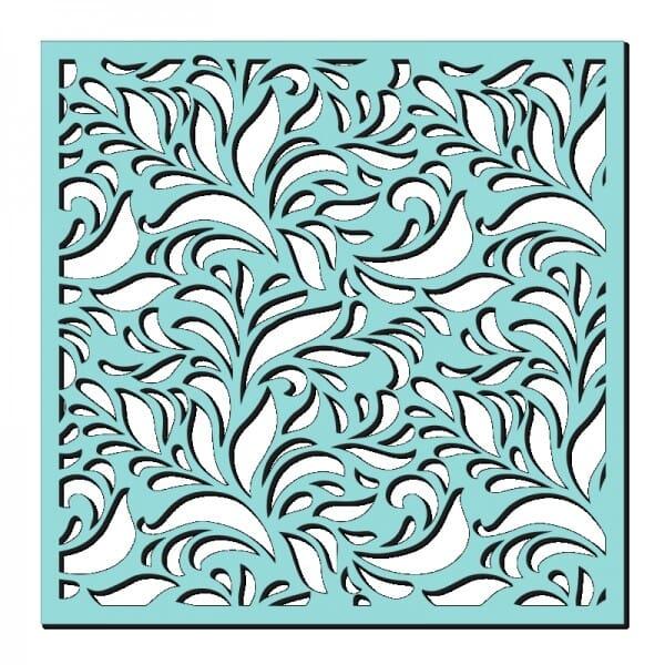 Kath Halstead Designs - Sweet Dixie Fern Flourish Stencil