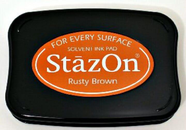 Tsukineko - Rusty Brown Staz On Pad