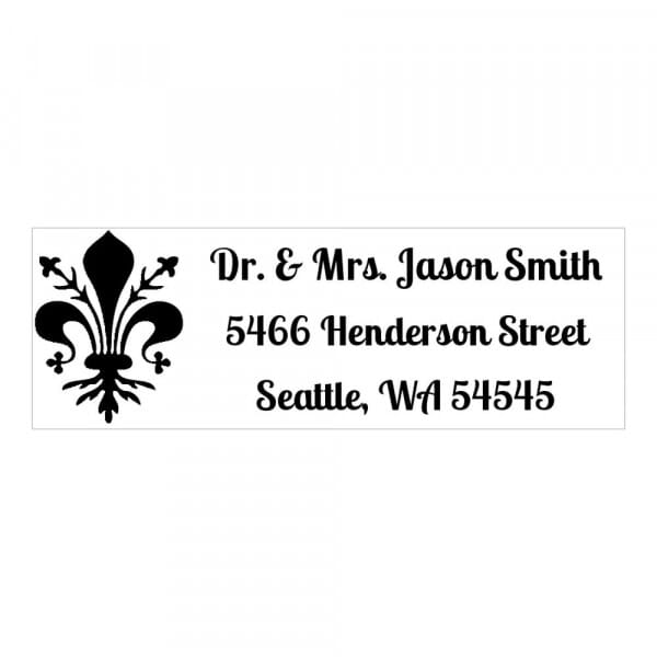 Monogram stamp rectangular - No  5