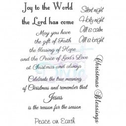 Sue Dix Designs - Joy to the World Clear STamp A6