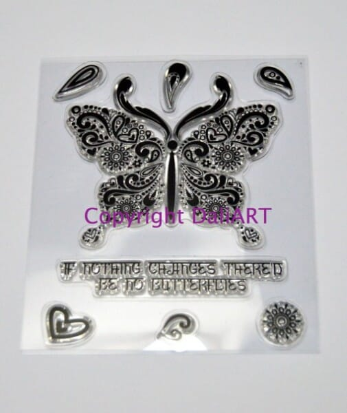 DaliArt - DaliART Clear Stamp Indian Butterfly