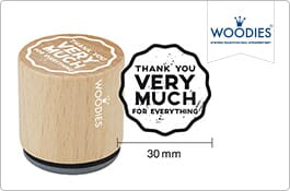 Woodies Thank you Stamps