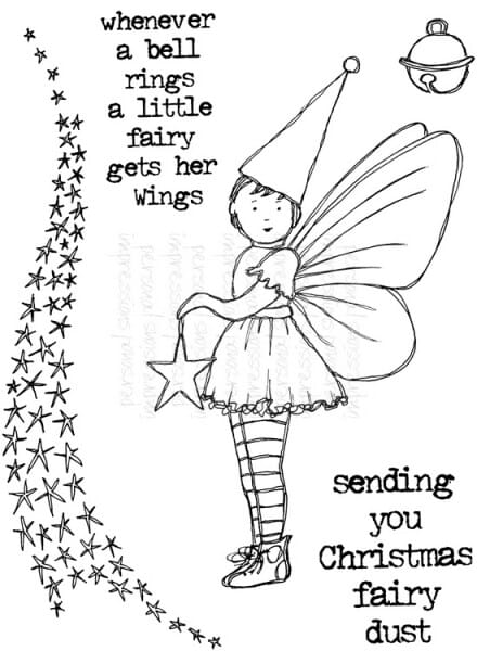 Lindsay Mason Designs - Little Fairy A6 Clear Stamp