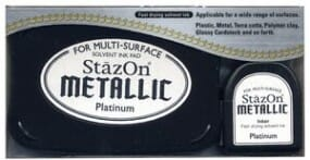 Tsukineko - Platinum - StazOn Metallic Ink Pad