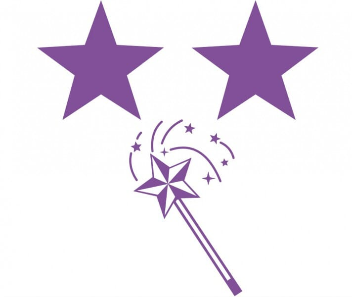 Trodat Printy 4933 - Two stars and a wish - violet
