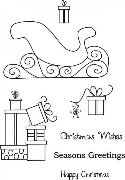 Art Stamps - Sleigh and Presents Clear Stamp