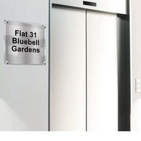 Square Stand Off Door Signs