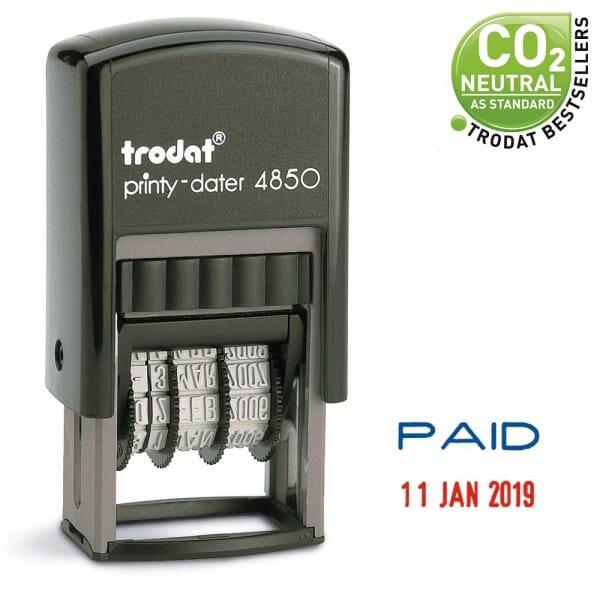 Trodat EcoPrinty 4850L2 - Paid + 3.8 mm date