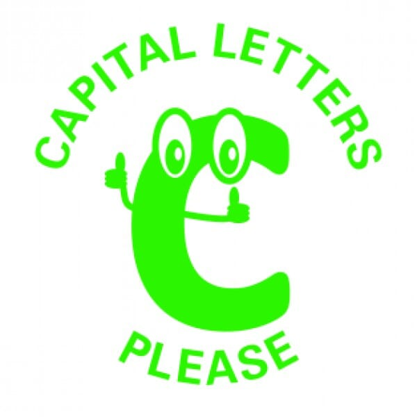 Teachers' Motivation Stamp - CAPITAL LETTERS PLEASE