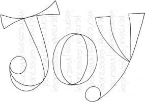 Lindsay Mason Designs - Zendoodle Joy A6 Clear Stamp
