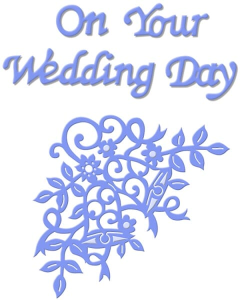 Sue Dix Designs - On Your Wedding Day Everyday Metal Dies