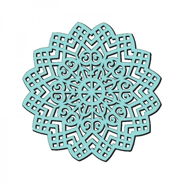 Sue Dix Designs - Sweet Dixie Lattice Swirl Stencil