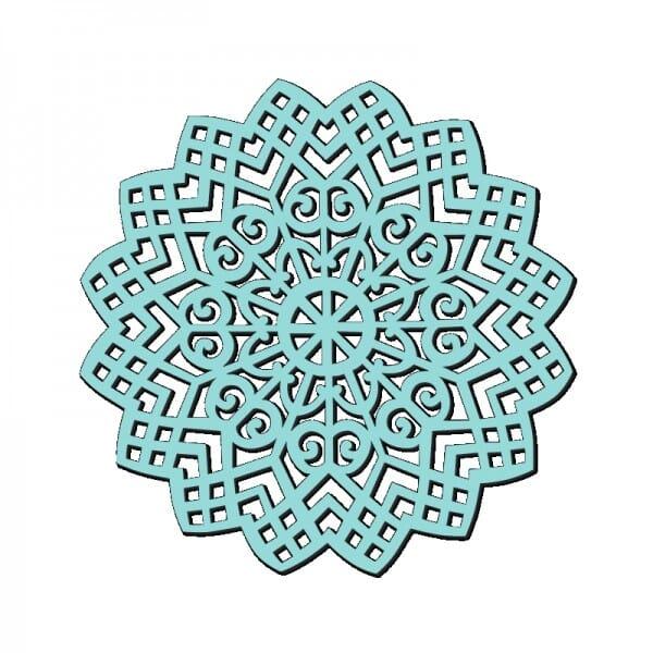 Sue Dix Designs - Sweet Dixie Lattice Swirl Stencil