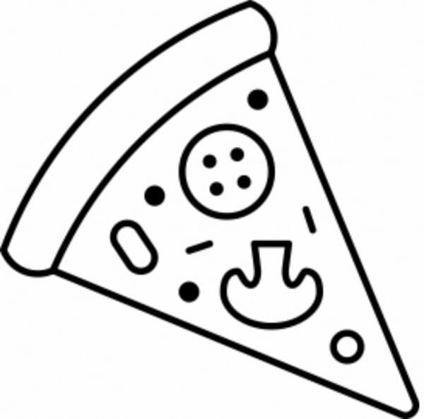 Pizza Loyalty Card Stamp - 11x11mm