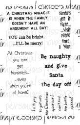 Lindsay Mason Designs - Humourous Christmas Quotes Clear Stamp