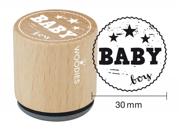 Woodies stamp Baby boy
