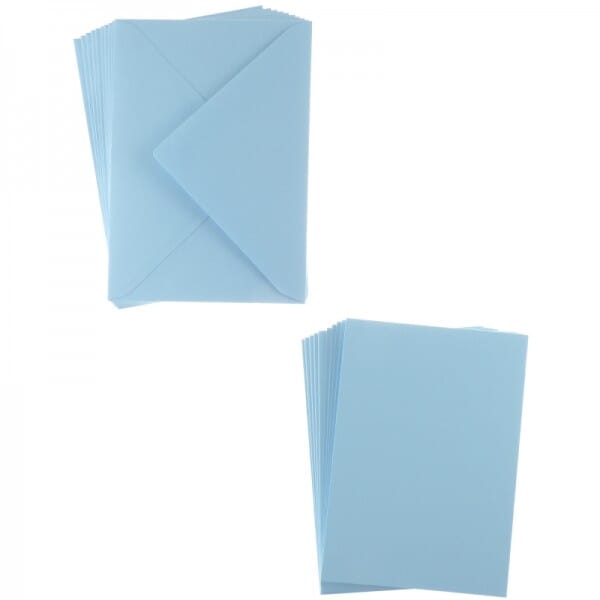Sweet Dixie Blue A6 Card and Envelope Packs (10)