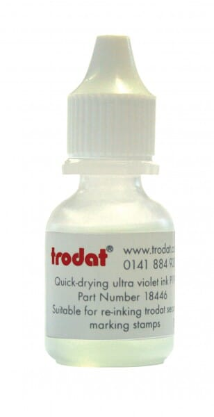Trodat Ultra Violet Ink - Quick-drying, 10 ml