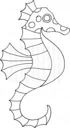 Lindsay Mason Designs - Zendoodle Seahorse - Clear Stamp
