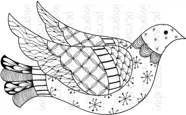 Lindsay Mason Designs - Zendoodle Dove Ready To Go A6 Clear Stamp