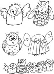 Lindsay Mason Designs - Funny Owls Clear Stamp