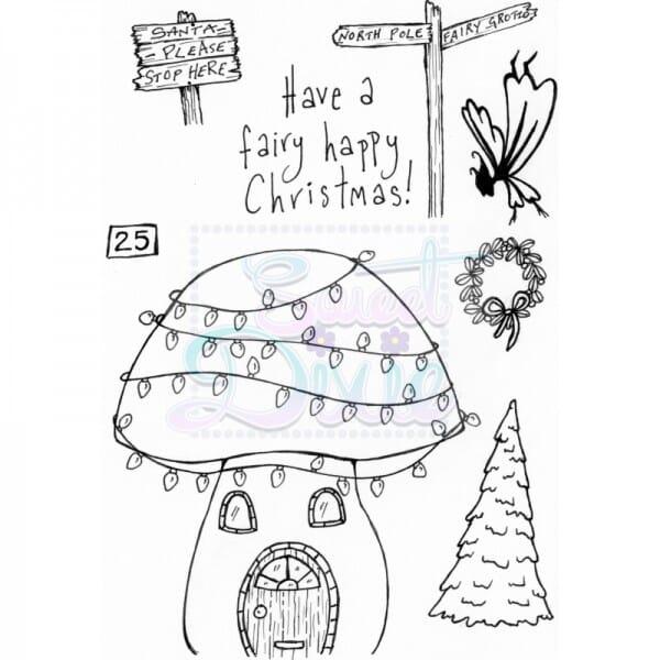 Lindsay Mason Designs - Fairy Happy Christmas Clear Stamp A6