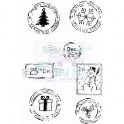 Lindsay Mason Designs - Festive Post Clear Stamp A6