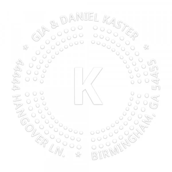 Dotted Borders Round Monogram Seal