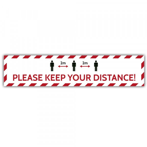 Social Distance Floor Marker - Please Keep Your Distance 2M (700x150mm)