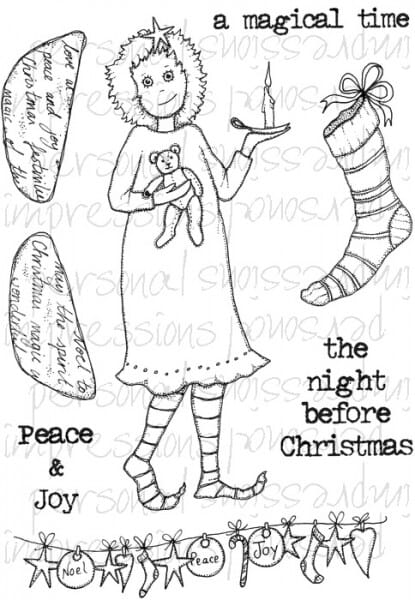 Lindsay Mason Designs - Doo Lally Pip Night Before Christmas Clear Stamp