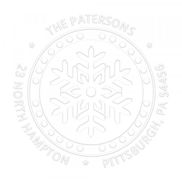 Let it Snow Flake Round Monogram Seal