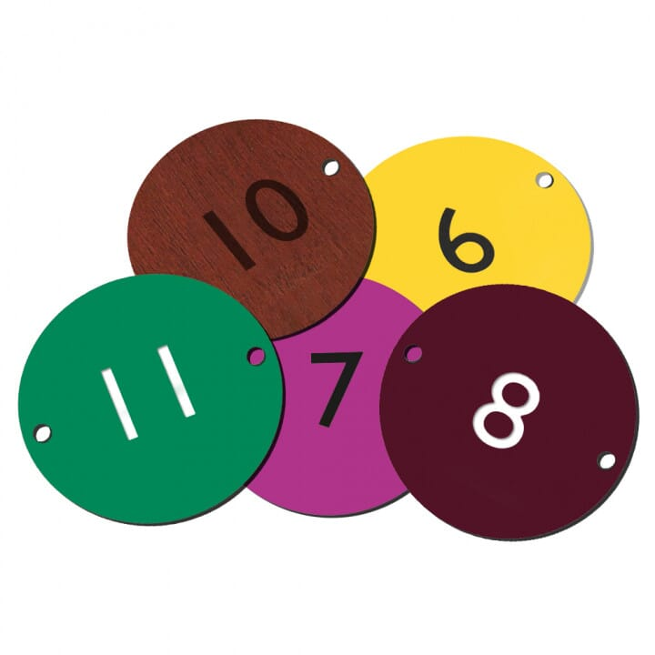 Table Number Materials