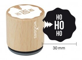 Woodies stamp Ho Ho Ho