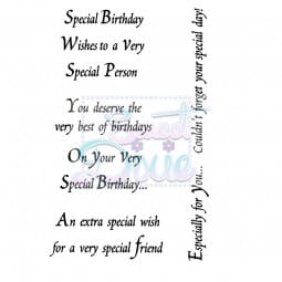Lindsay Mason Designs - An extra special wish Clear Stamp size A6