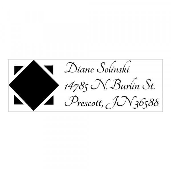 Monogram stamp rectangular - No  13