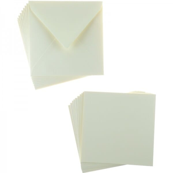 Sweet Dixie Cream Square Card and Envelope Packs (10)