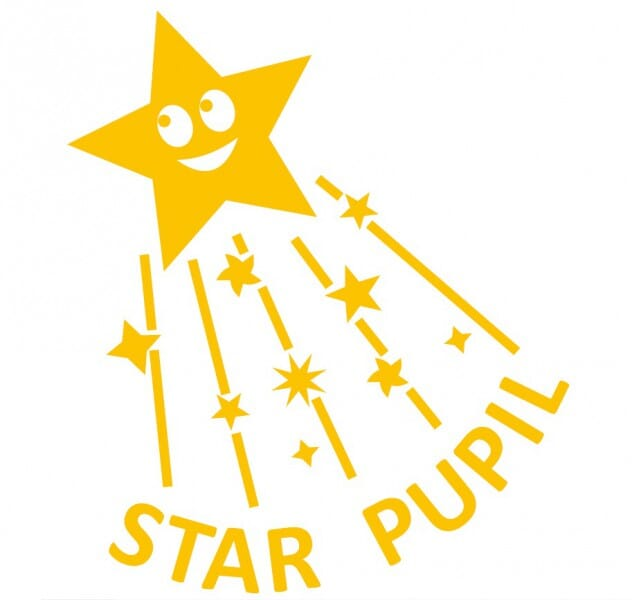 Trodat Printy 4933 - Star Pupil (with shooting star) - yellow