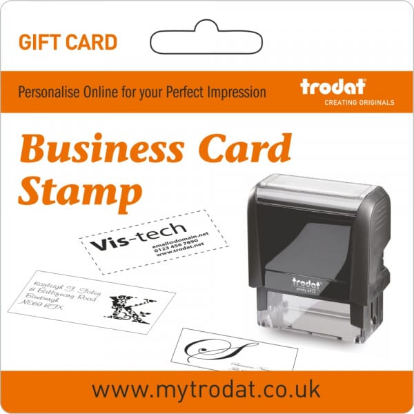 Trodat Business Card Stamp Gift Card