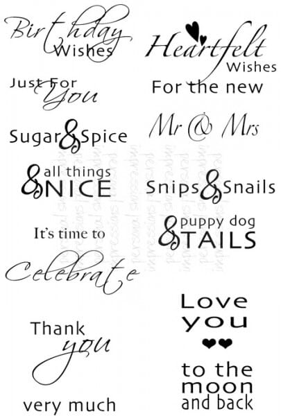 Sweet Dixie - MM Inside Out Sentiments - Clear Stamp
