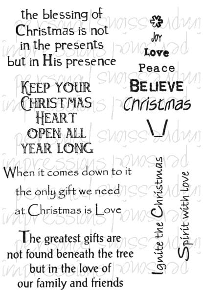 Lindsay Mason Designs - Inspirational Quotes Greetings A6 Clear Stamp
