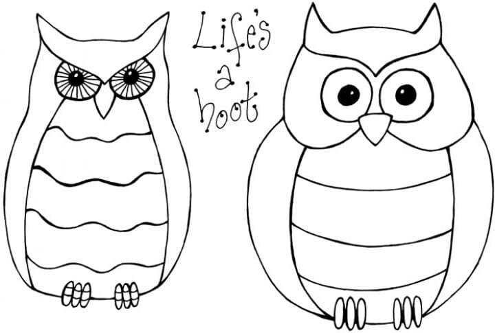 Lindsay Mason Designs - Zendoodles Owls Clear Stamp